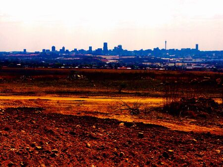 urban: Johannesburg cityscape skyline Stock Photo