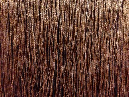cultural artifacts: Natural fiber hessian threads Stock Photo