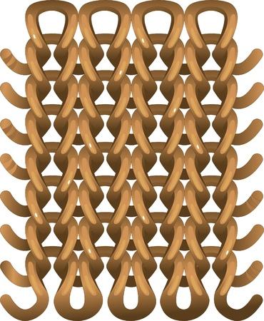 wickerwork: Knitted pattern Illustration