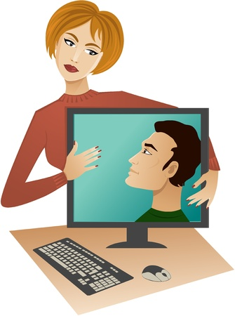 Internet dating Stock Vector - 11562751