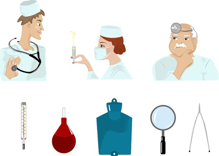 Set of medical images Vector