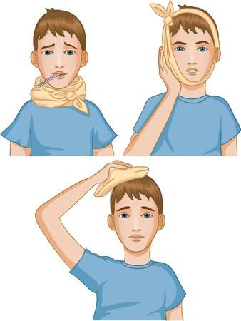 migraine: Boy got cold.
