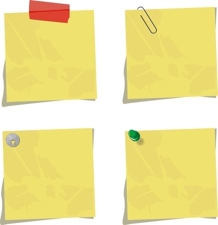 paper clips: set of memos