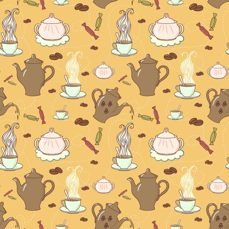 Seamless coffee pattern Stock Vector - 12480927