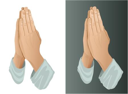 manos orando: Manos que oran Vectores