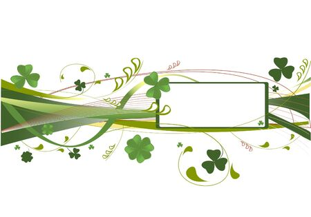 patrick banner: Vector background with clover