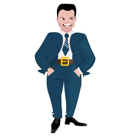mobbing: Evil Boss Illustration