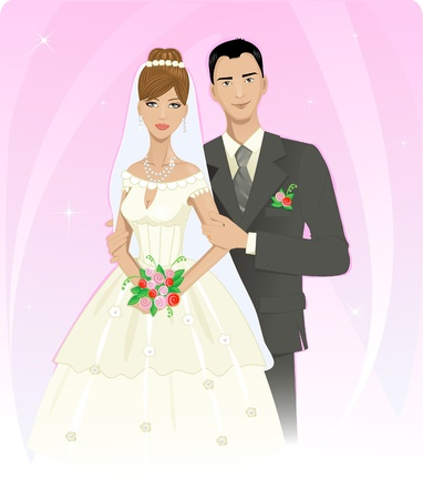 Wedding couple Stock Vector - 13067136