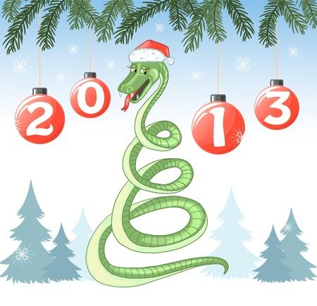 Cartoon snake, a symbol of a year Stock Vector - 15828142