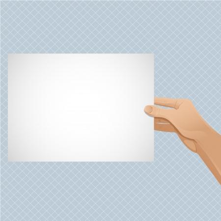 keeps: Mans hand keeps paper