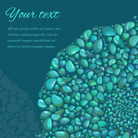 shingles: Abstract vector background with decorative stones and place for text