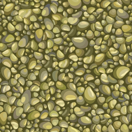shingle: Abstract seamless background with decorative stones Illustration