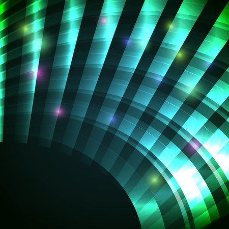 Modern background with neon green arc Vector