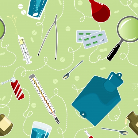 Seamless background with medical instruments  Vector