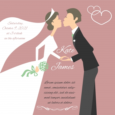 bridal couple: Wedding couple Illustration