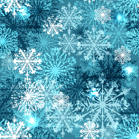 Seamless background with snowflakes,  Vector