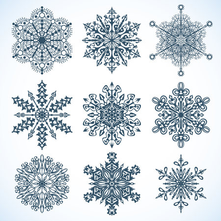 Collection of Snowflakes Stock Vector - 23193783