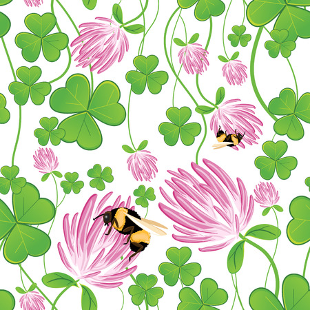 clover backdrop: Seamless background with clovers