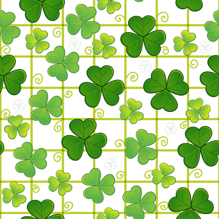 checked: Seamless with clovers
