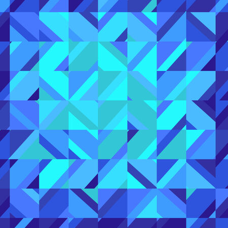 water stained: Mosaic blue square background