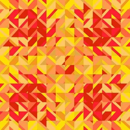 Mosaic yellow red square background Vector