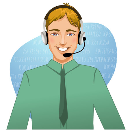 telephonist: Young man operator