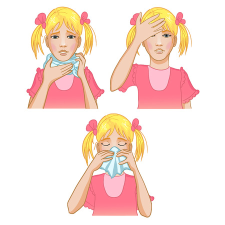 snot: Girl got cold Illustration