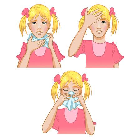 Girl got cold Illustration