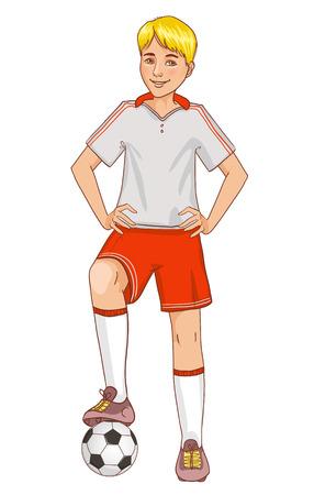 Jongen met een voetbal