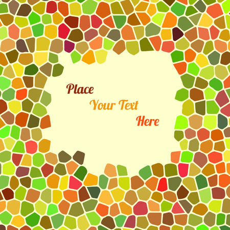 shingle: Abstract colorful background with cells for your text