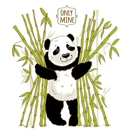 owning: Big panda owns his bamboo