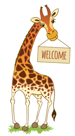 cloven: cartoon giraffe