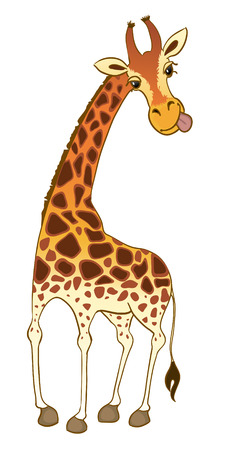 cloven: Vector cartoon giraffe