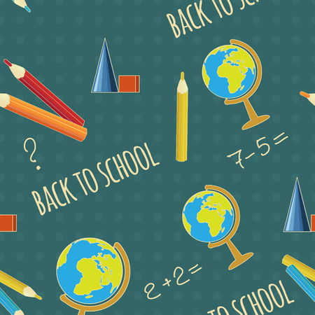 Seamless background with education objects Imagens - 30181501