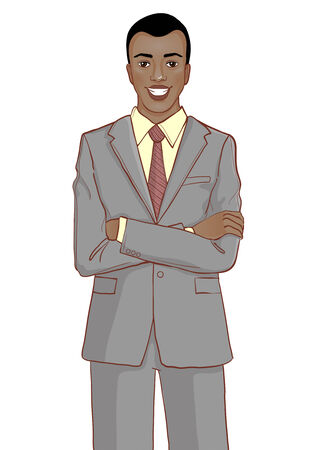 African American businessman Illustration