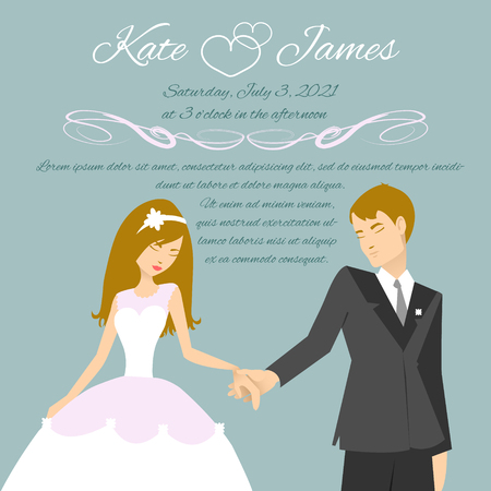 ragazza innamorata: Coppie di cerimonia nuziale per la scheda dell'invito