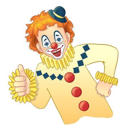 comedy show: Cartoon funny clown