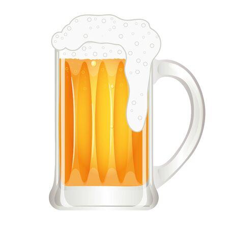 Mug of beer, vector image