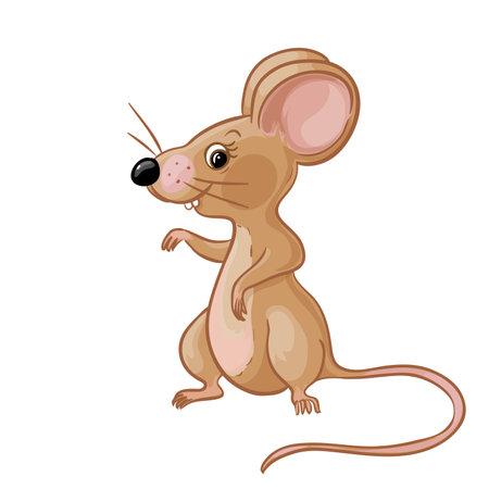 Cartoon yellow mouse vector image 矢量图像