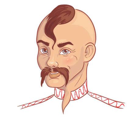 Man in traditional Ukrainian clothes, vector image 矢量图像