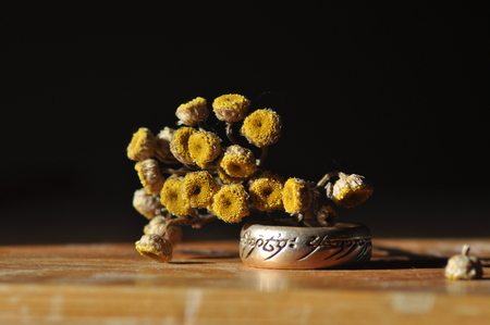 Ring and yellow flower