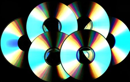 cd rom: cd backgound scanned Stock Photo