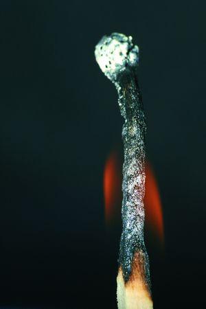 combustible: burning match Stock Photo