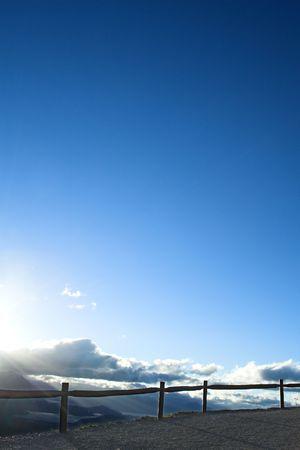 holydays: fence silhouette