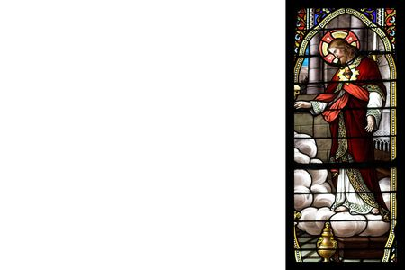 stained glass with chist and writting space