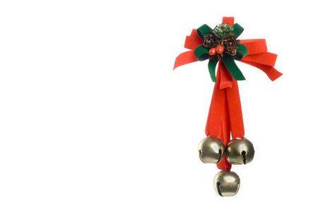 jingling: christmas ornament woth berry, bow and three jingling bells.