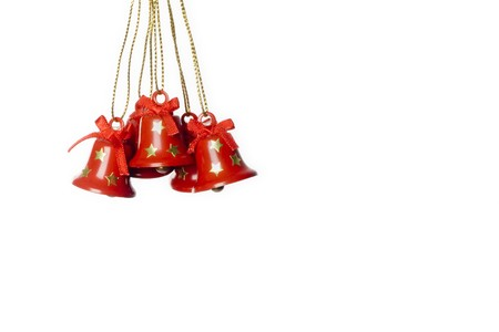 group of tinkle bells isolated in white. Stock Photo - 3945195