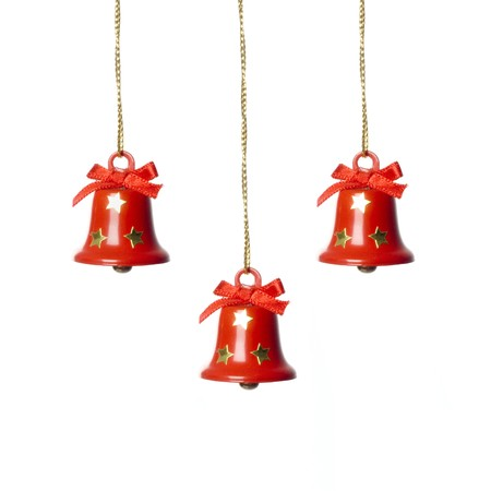 three tinkle bells. isolated in white. Stock Photo - 3945191