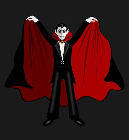 mantle: Cartoon Count Dracula in the mantle