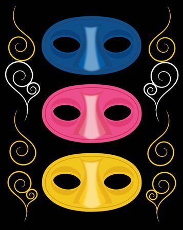 carnival masks: Set of three carnival masks